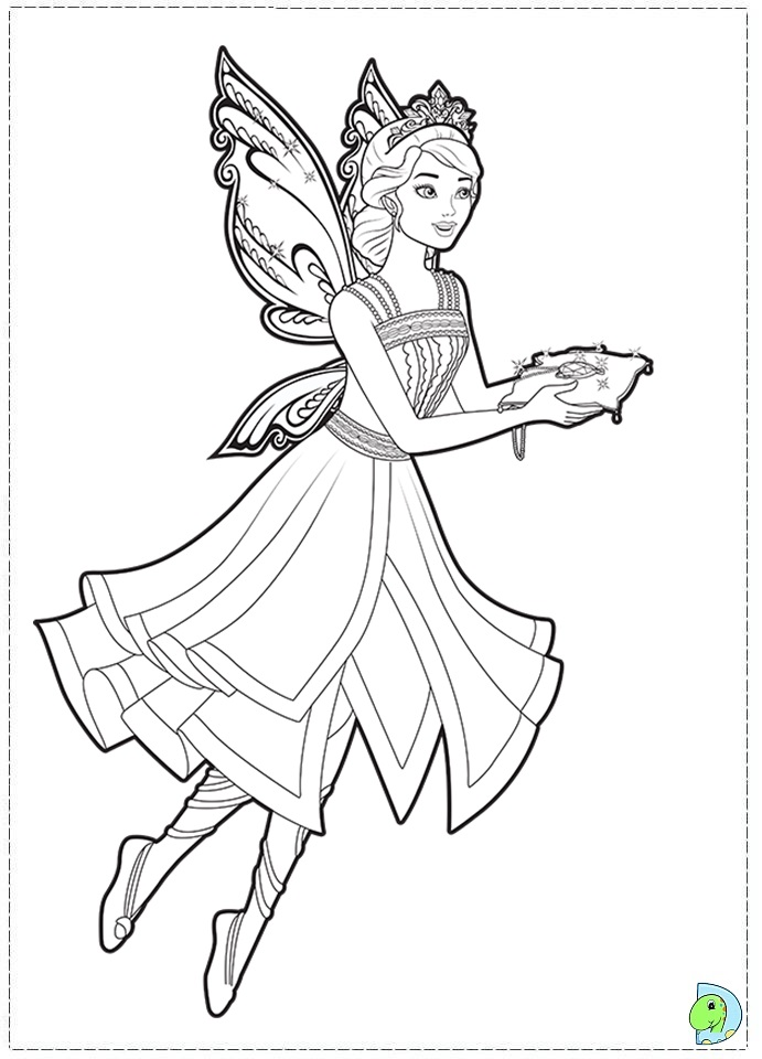 barbie mariposa coloring pages free - photo#25