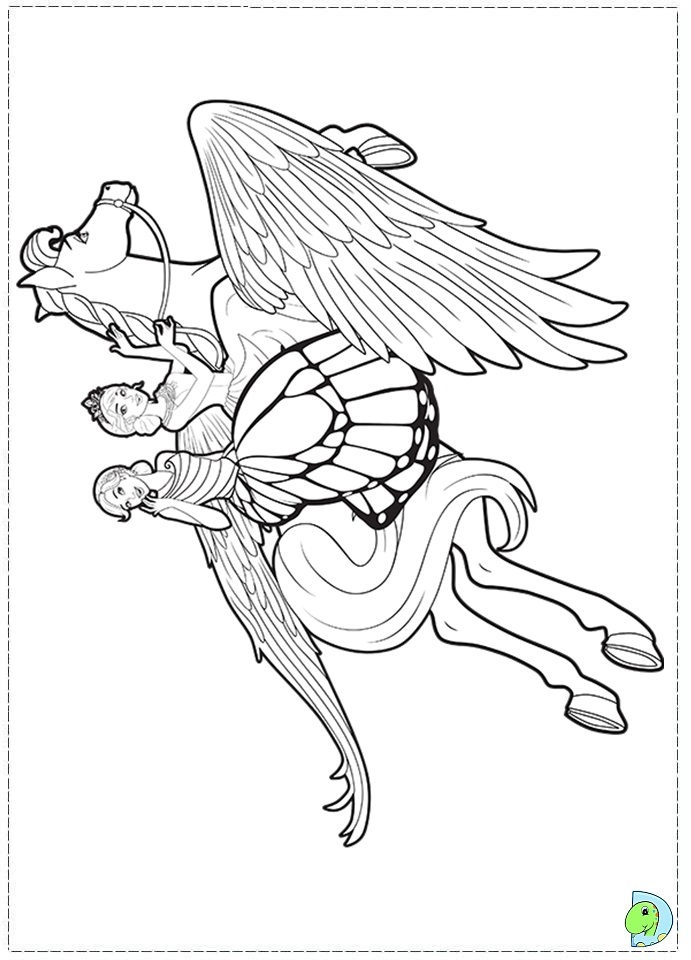 Barbie Mariposa Printable Coloring Pages