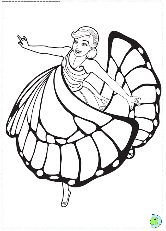 barbie mariposa and the fairy princess coloring page