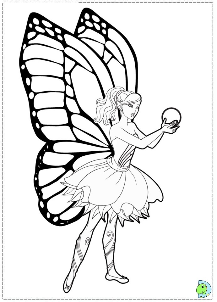 barbie mariposa coloring pages free - photo#16