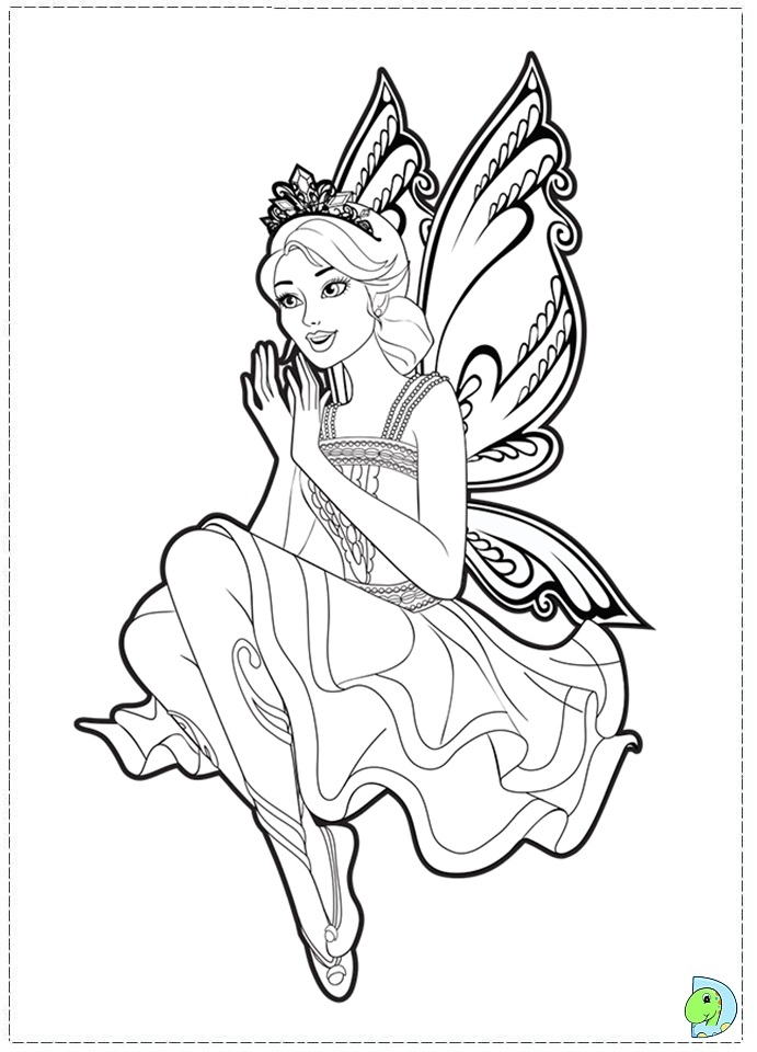 Coloring Pages Princess Fairies : Barbie fairy coloring pages