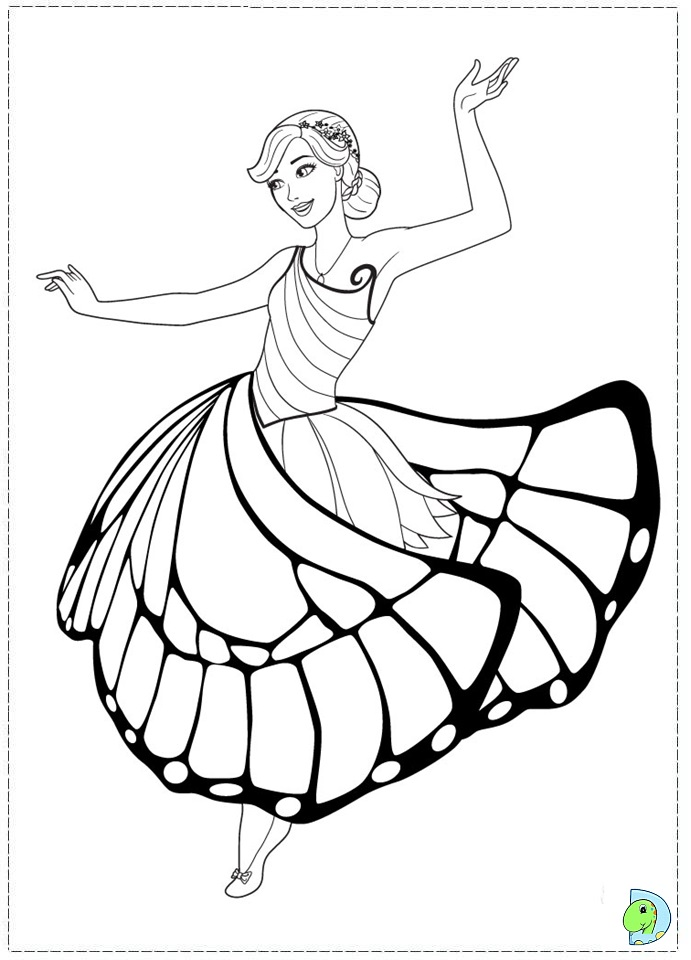 barbie mariposa coloring pages free - photo#33
