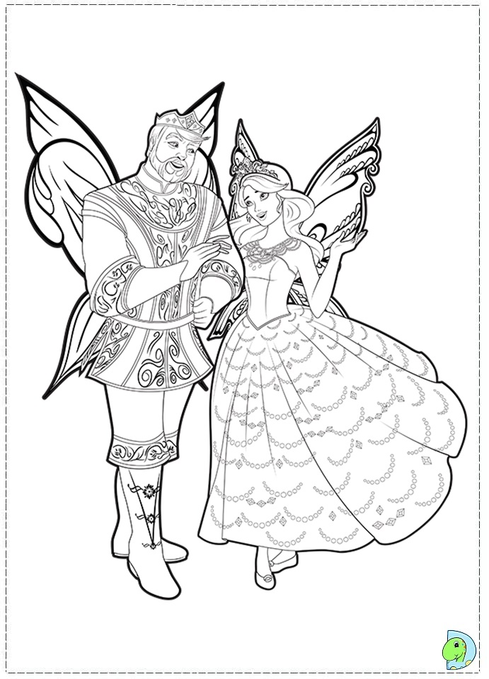 Barbie Fairy Princess Coloring Pages Sketch Coloring Page