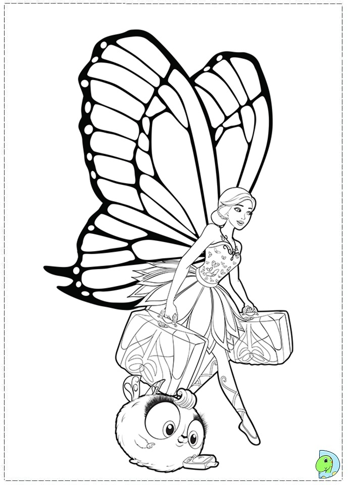 Barbie Mariposa And The Fairy Princess Coloring Page Butterfly Princess Coloring Pages Free Coloring Sheets