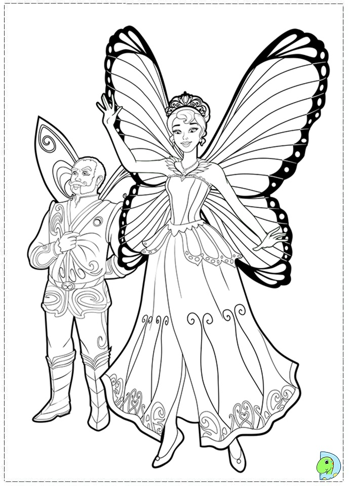 barbie mariposa coloring pages free - photo#36