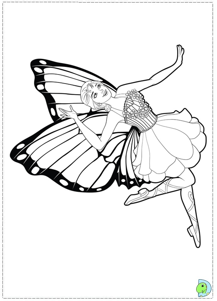Butterfly Princess Coloring Pages Coloring Pages