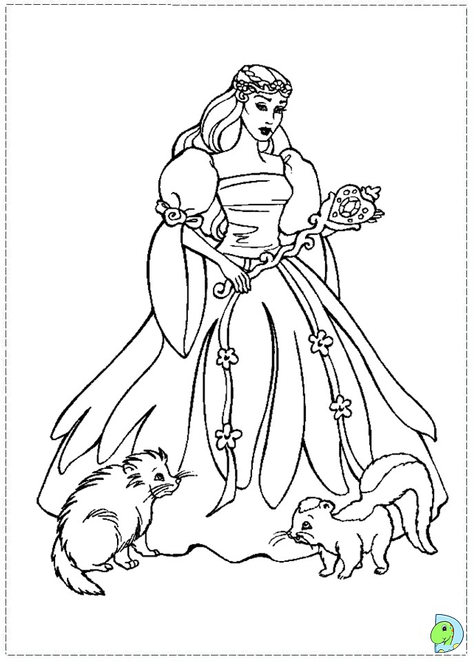 Colouring Pages Barbie Swan Lake : Free coloring pages of barbie swan lake