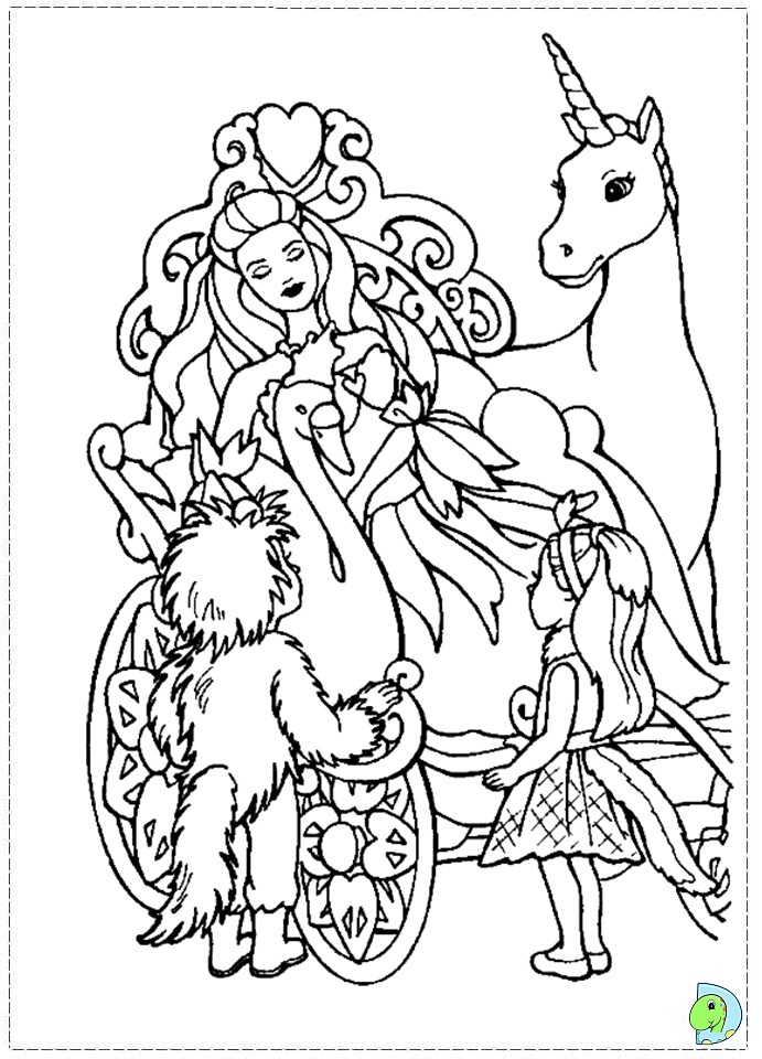 Colouring Pages Barbie Swan Lake : Swanlake colouring pages