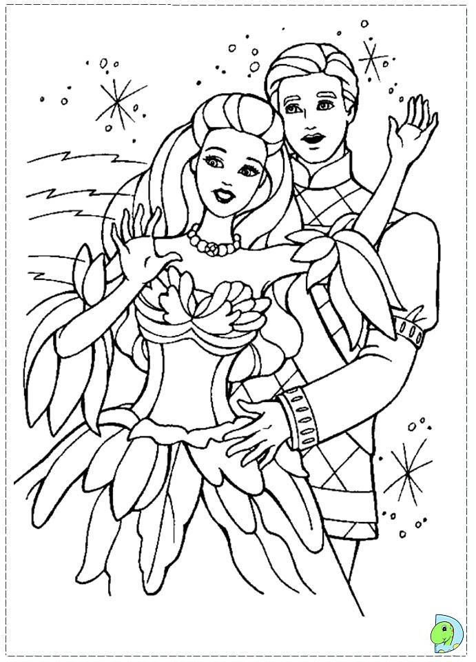 Colouring Pages Barbie Swan Lake : Barbie of swan lake coloring page dinokids
