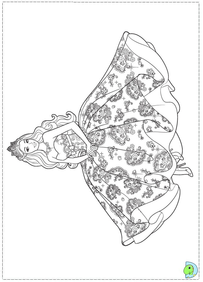 Coloring Pages Barbie Island Princess : Free coloring pages of barbie princess