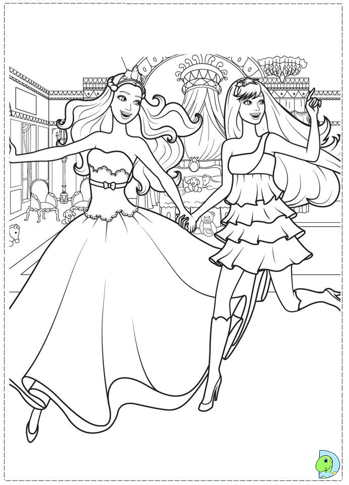 Barbie Coloring Pages Princess And The Popstar