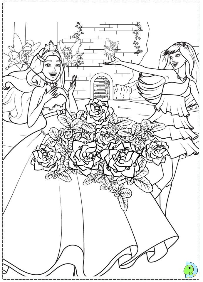 Coloring Pages Barbie Princess And Popstar : Barbie the princess and popstar coloring page