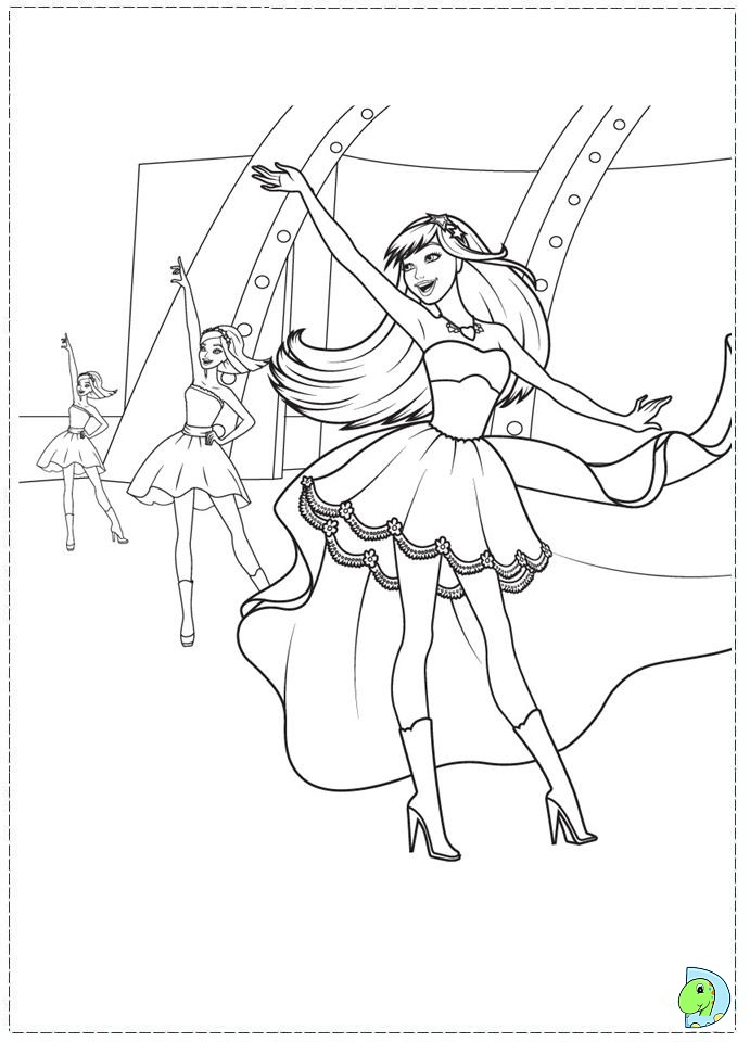 Coloring Pages Barbie Rockstar : Free rockstar de coloring pages