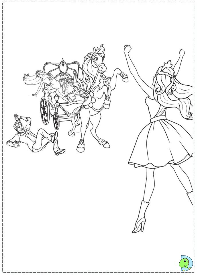 Barbie Popstar Coloring Pages : Barbie the princess and popstar coloring page
