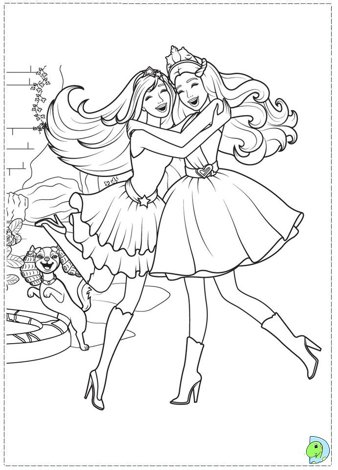 coloring pages princess barbie - photo#32