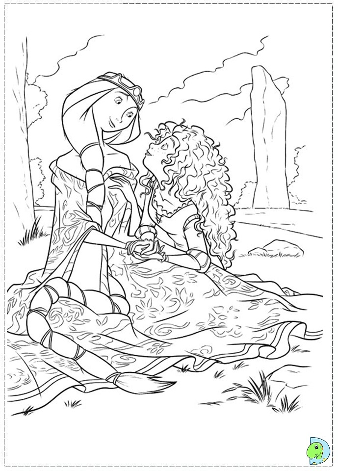 Brave Coloring Pages Disney Brave Coloring Pages