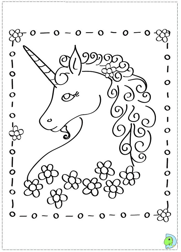 Pink Fluffy Unicorn Coloring Pages