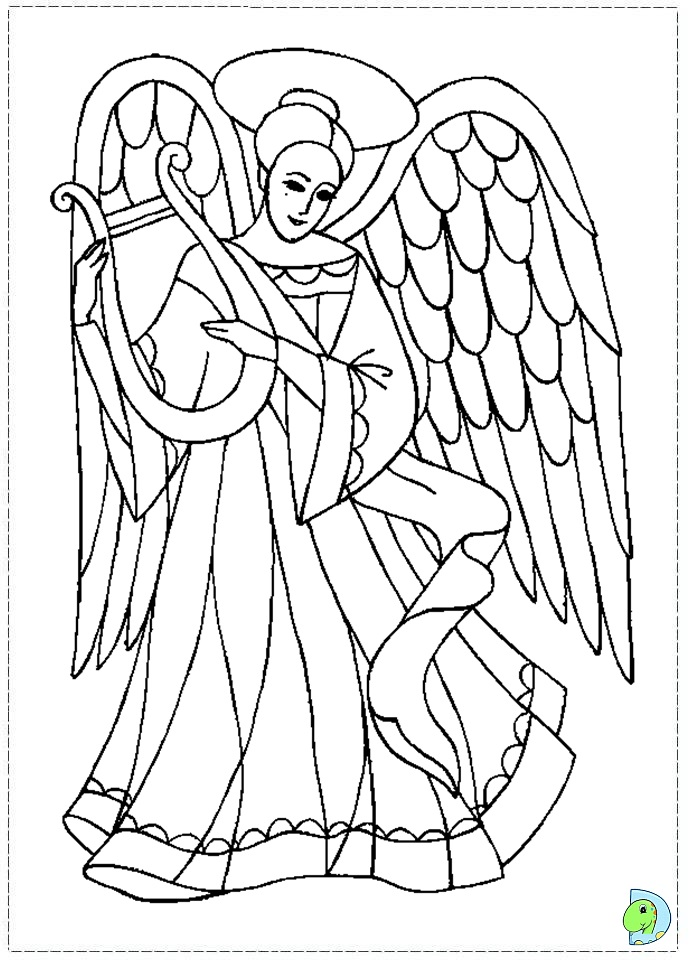 angel coloring page  christmas angel colouring page  dinokids org