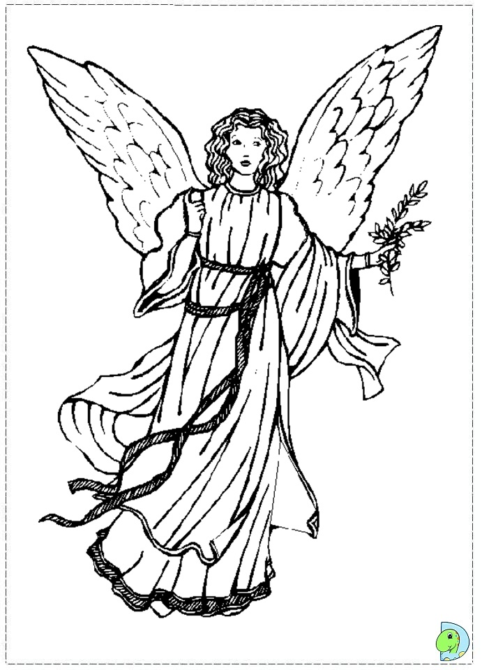 Praising God Coloring Page