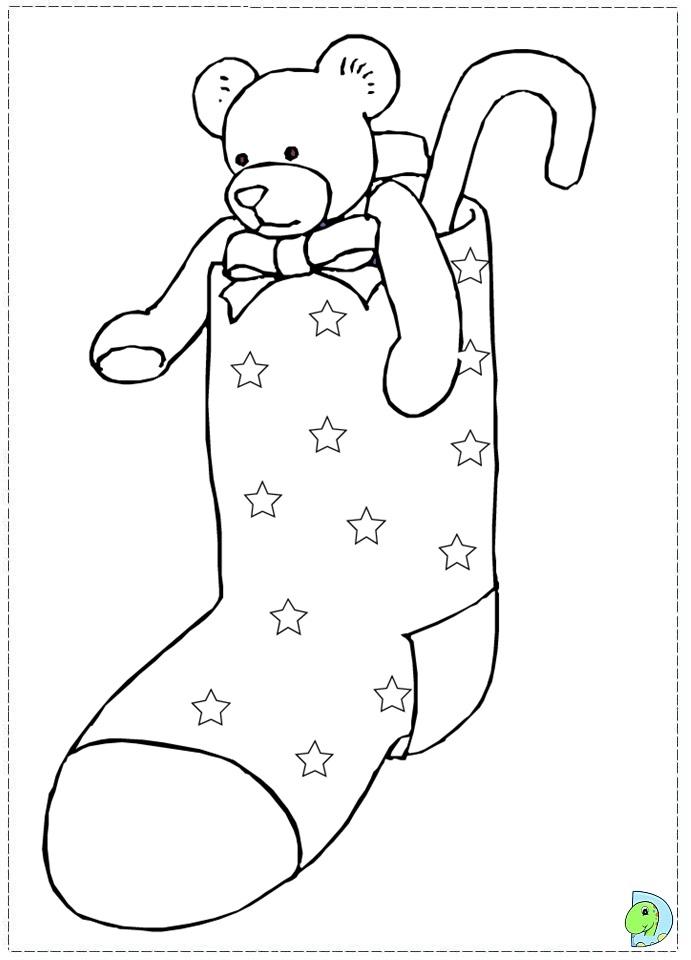 Christmas stockings coloring page- DinoKids.org