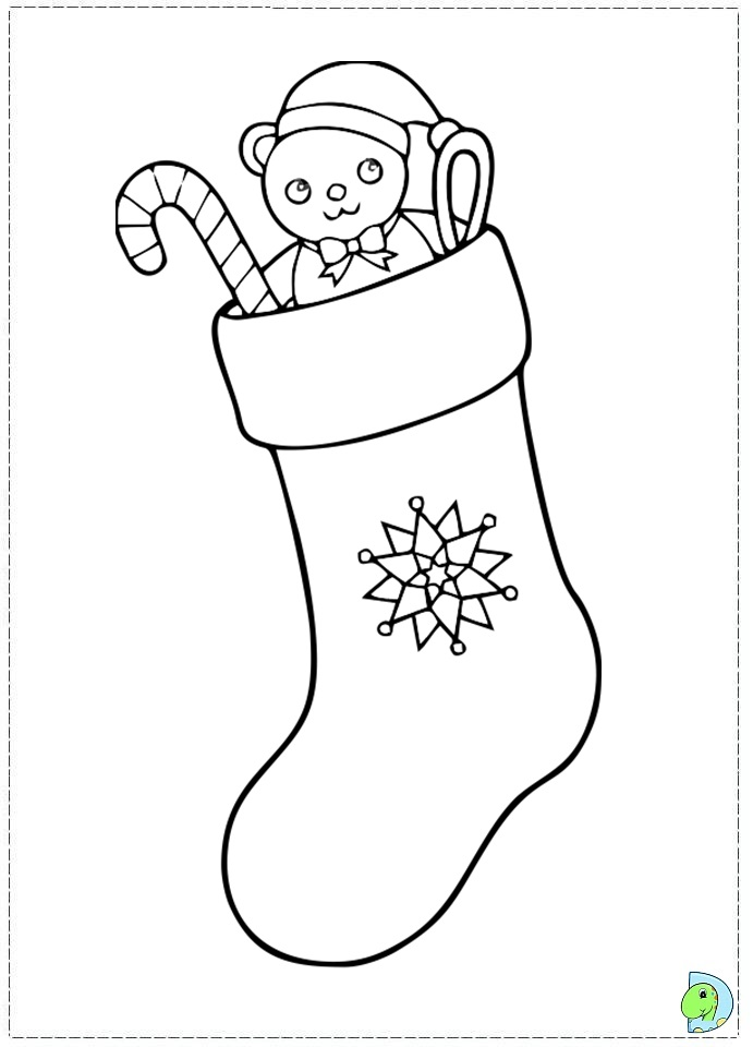 coloring christmas stocking template coloring pages