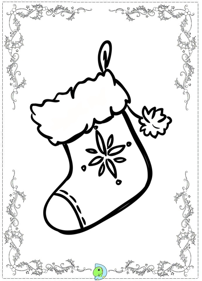 search results for christmas stocking colouring pages