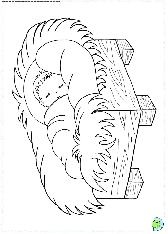 Nativity Scene Coloring Page For Preschoolers Coloring Pages