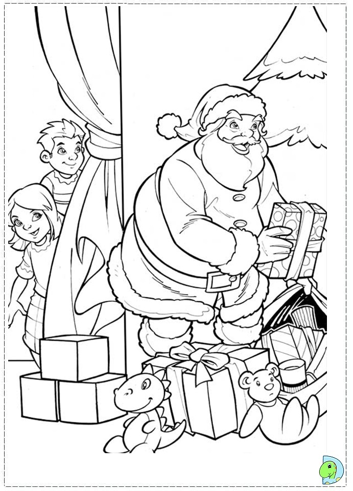 Santa Claus coloring page- DinoKids.org