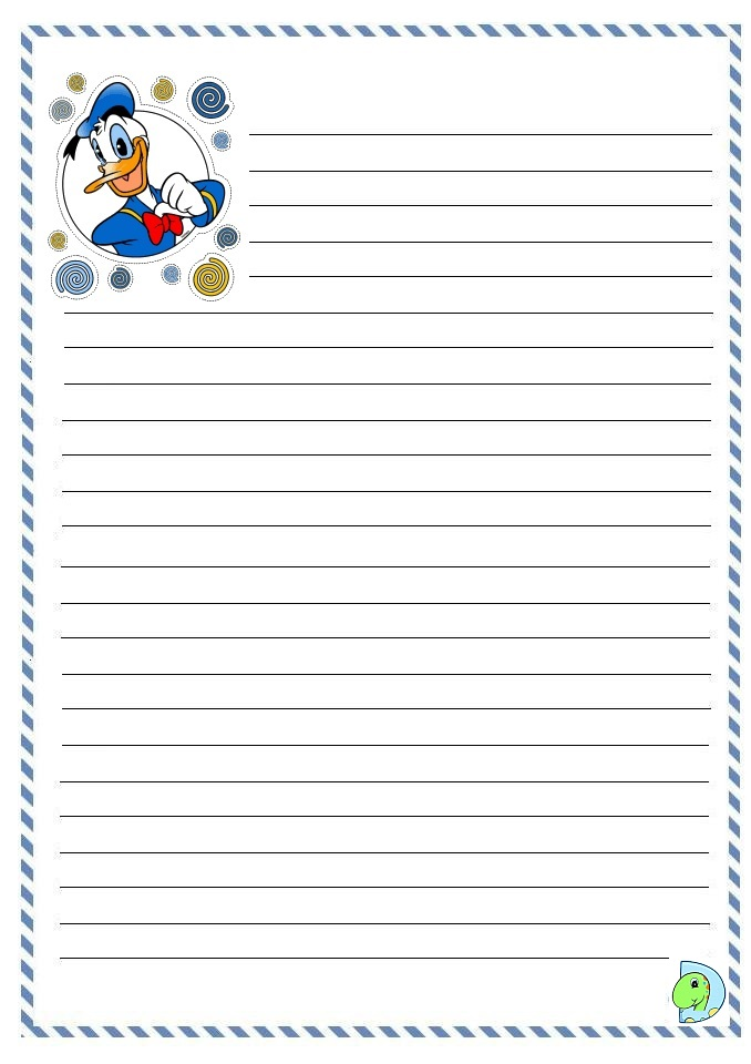 duck writing paper Dltk's custom writing paper looking for a way to create themed writing paper the next few steps will allow you to choose a theme for the top and bottom borders of.