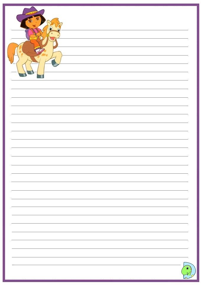 004 Handwritingpaper Dora 33 on Handwriting Paper