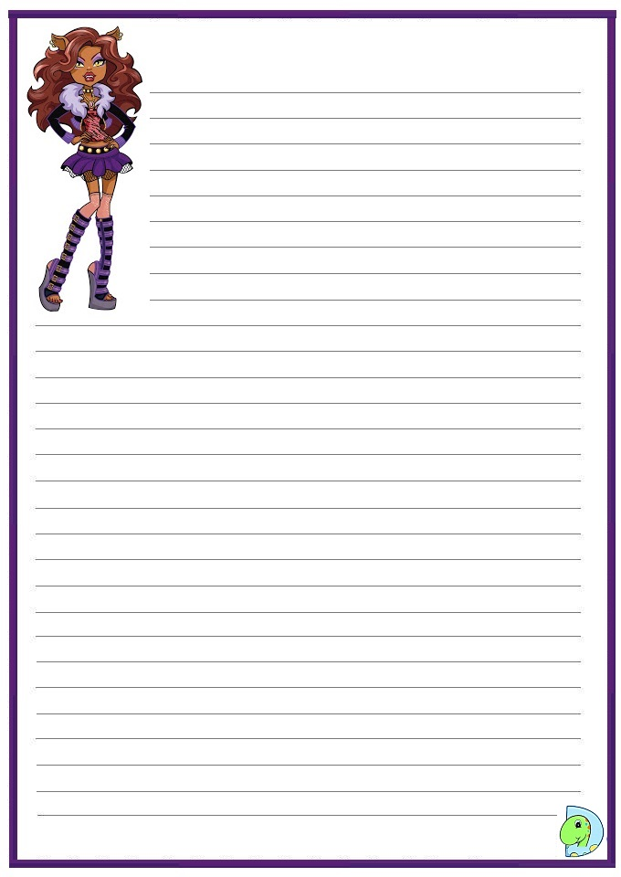 Printable Writing Paper with Room for Picture
