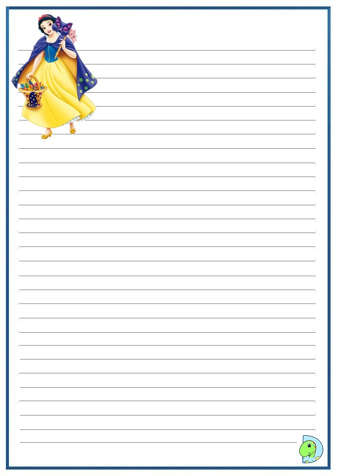 Adapted Handwriting Paper Highlighted for Dysgraphia