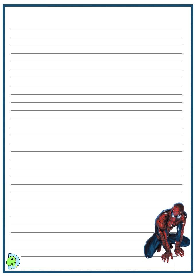 Spider writing paper