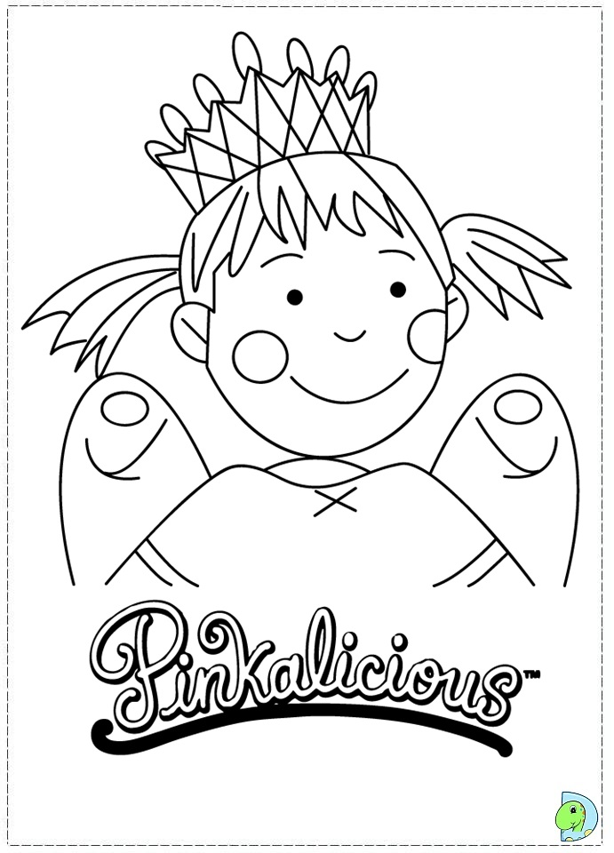 Pinkalicious coloring page- DinoKids.org