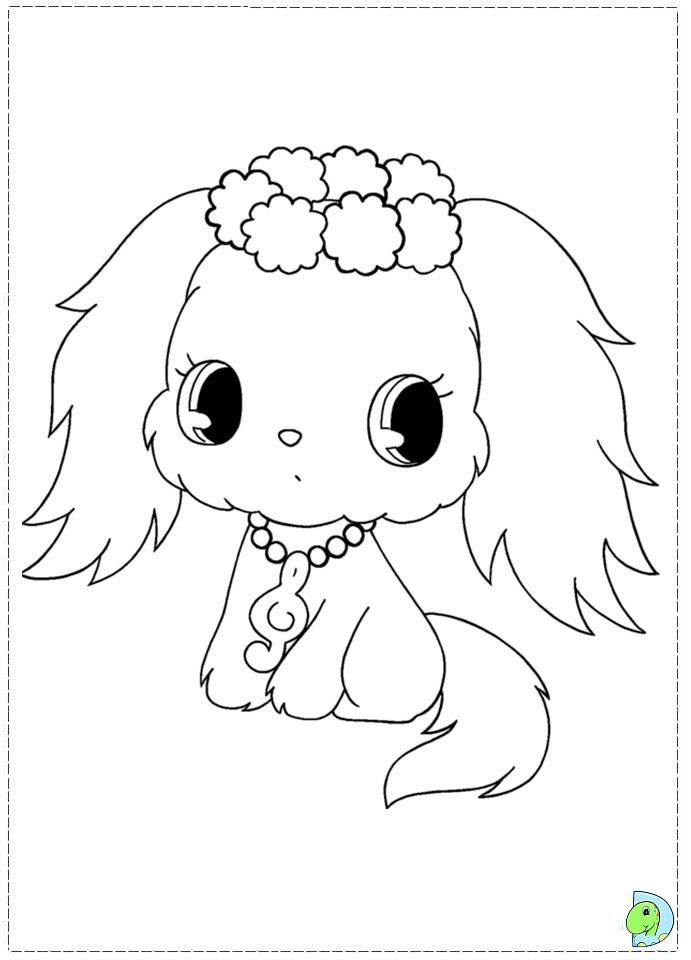 jewelpet coloring page dinokids org