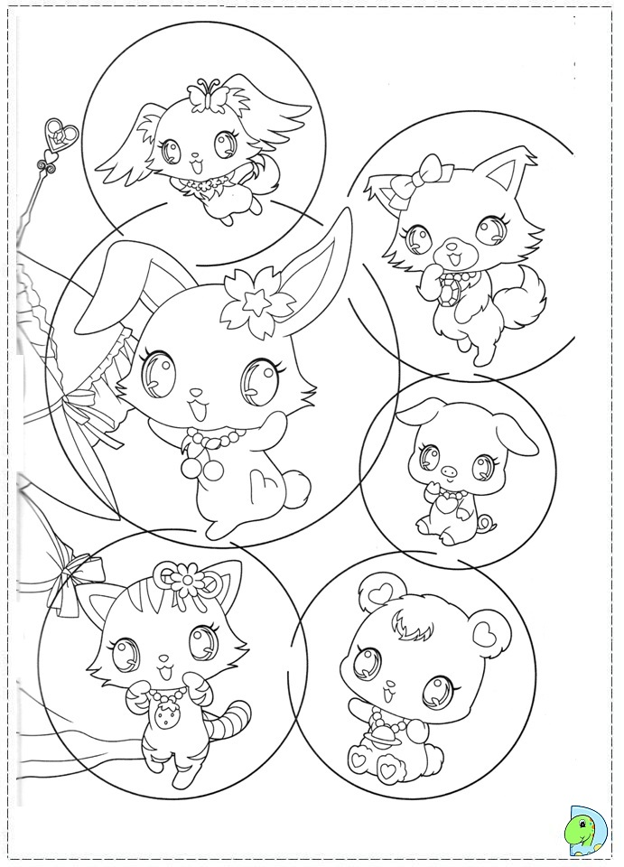 Jewelpet Coloring page DinoKids