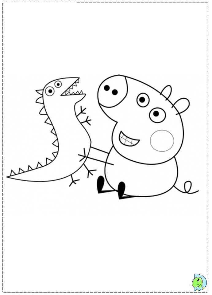 peppa pig coloring pages abcs - photo#9