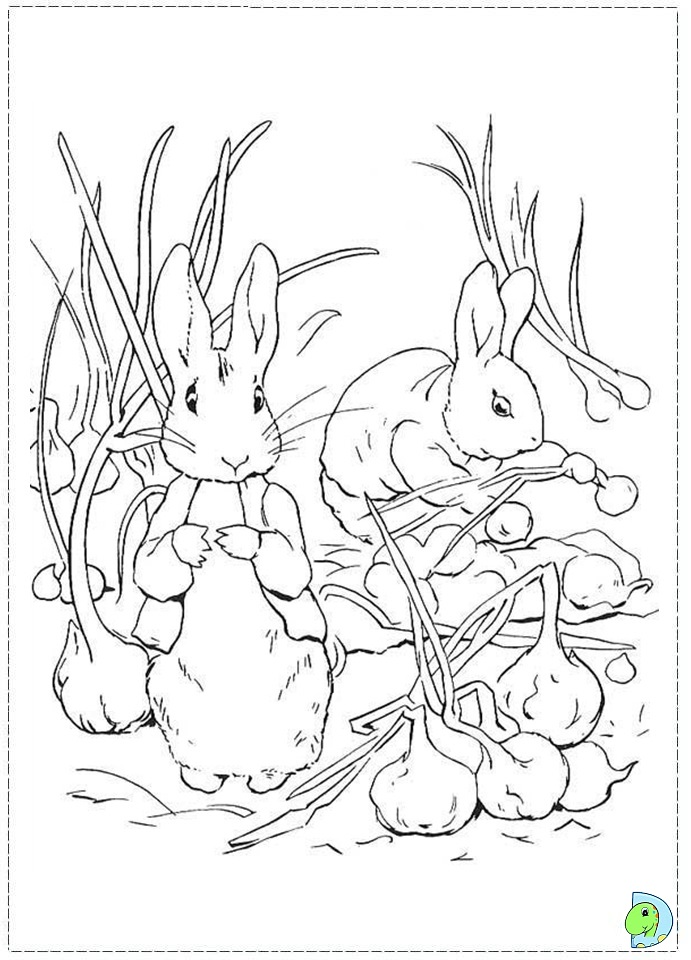 Peter Rabbit Coloring page- DinoKids.org
