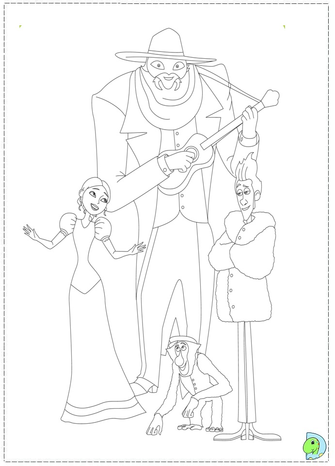 A Monster In Paris Coloring Page- DinoKids.org