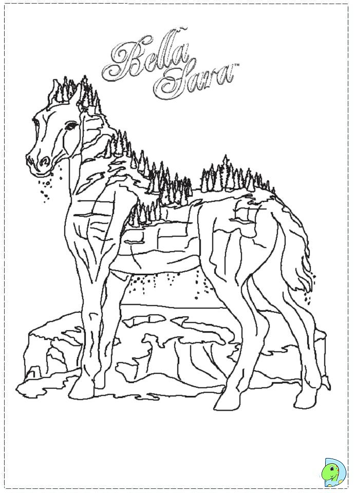 Bella-Sara-The-Magical-Horse-Coloring-Pages-5.jpg (571×800 ... | 960x691