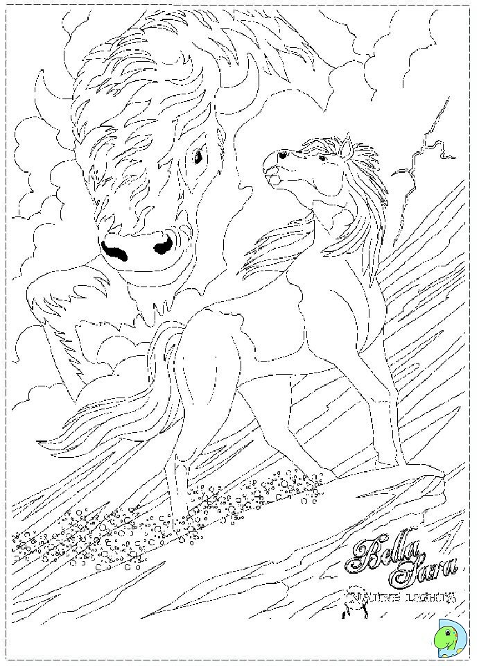 Bella Sara The Magical Horse Coloring Pages 3 - Free Printable ... | 960x691