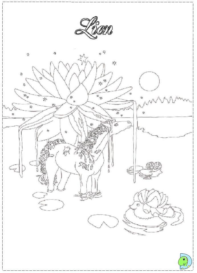 bella sara coloring page dinokids