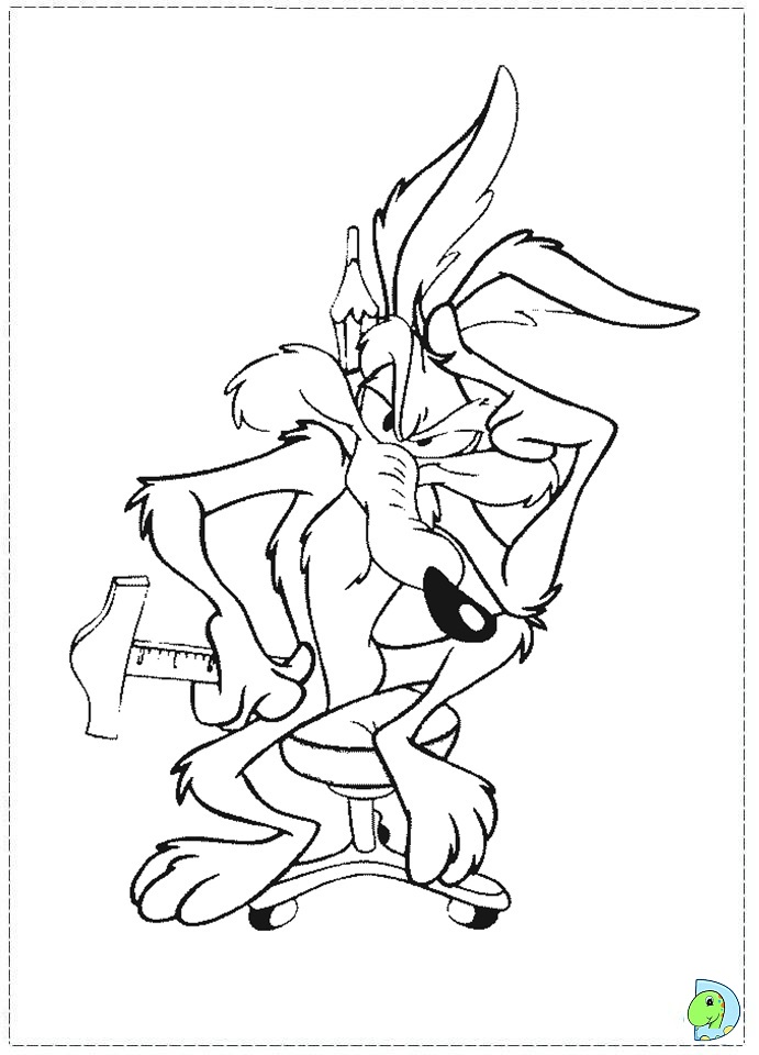 Wile coyote coloring pages coloring page for Wile e coyote coloring pages