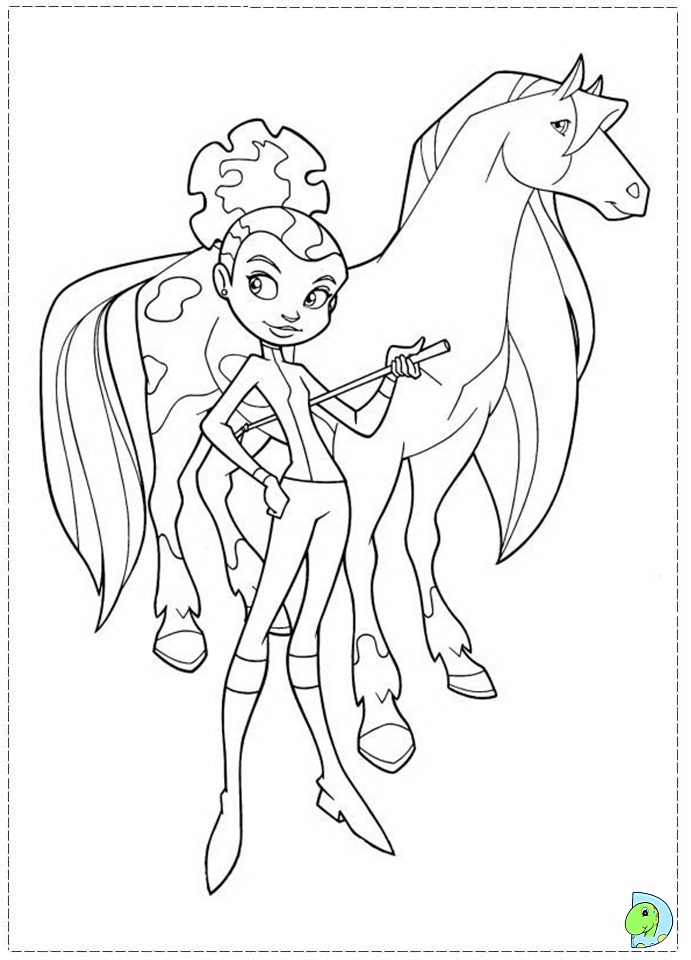 horseland coloring page- dinokids