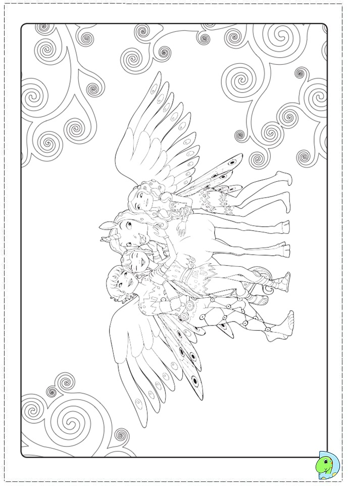 Mia and Me Coloring page- DinoKids.org