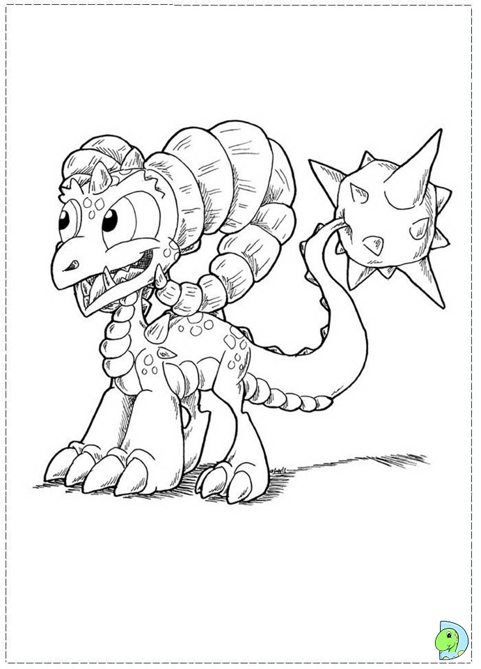 Skylanders Giants Thumpback coloring pages   960x691