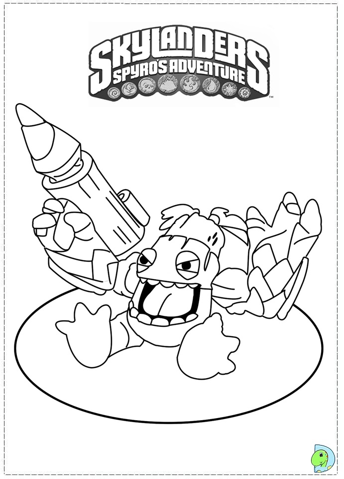 Skylanders Coloring page- DinoKids.org