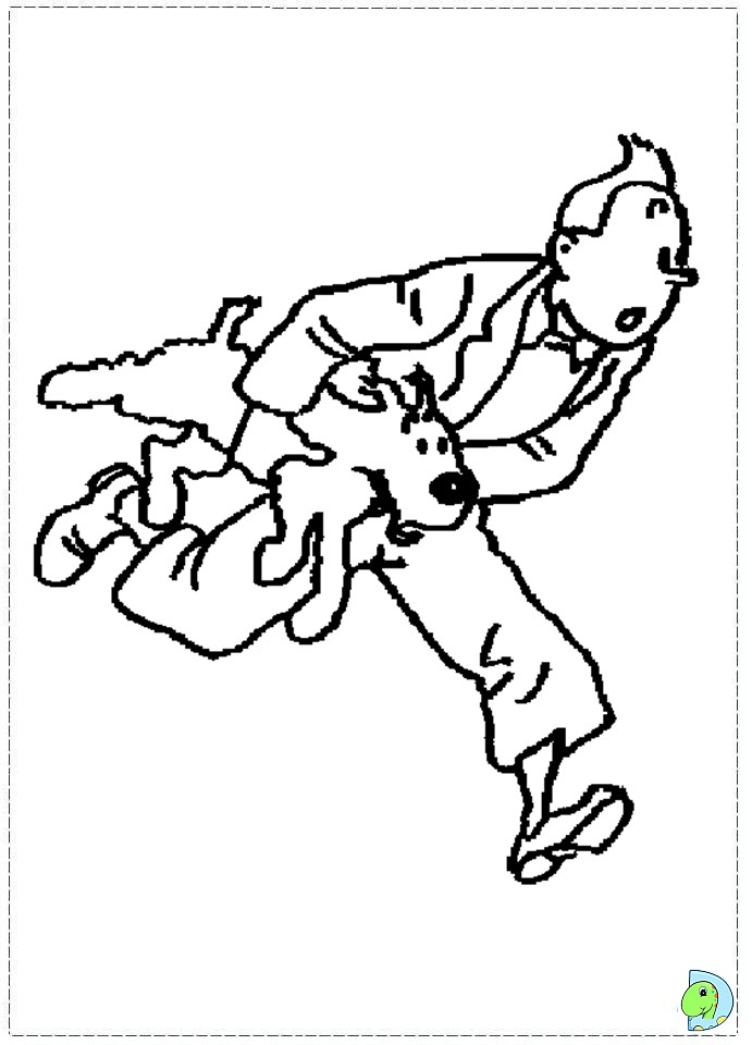 More from colouring-page.org. Tin tin! | Coloring pages, Tintin ... | 960x691
