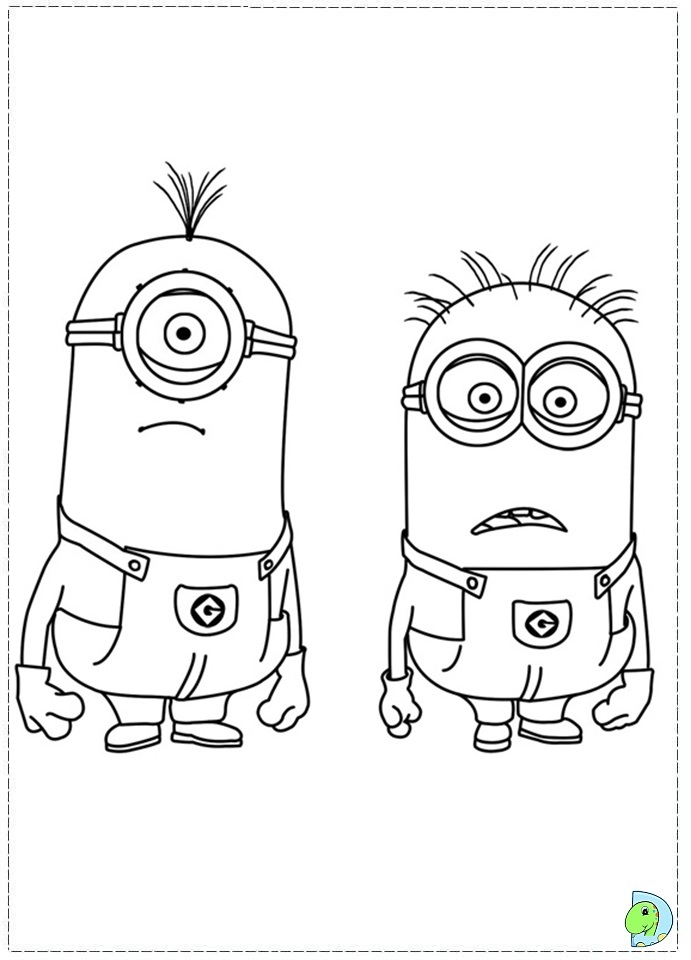 Minions Coloring page- DinoKids.org