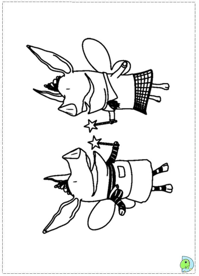 Olivia The Pig Coloring Page Dinokids Org